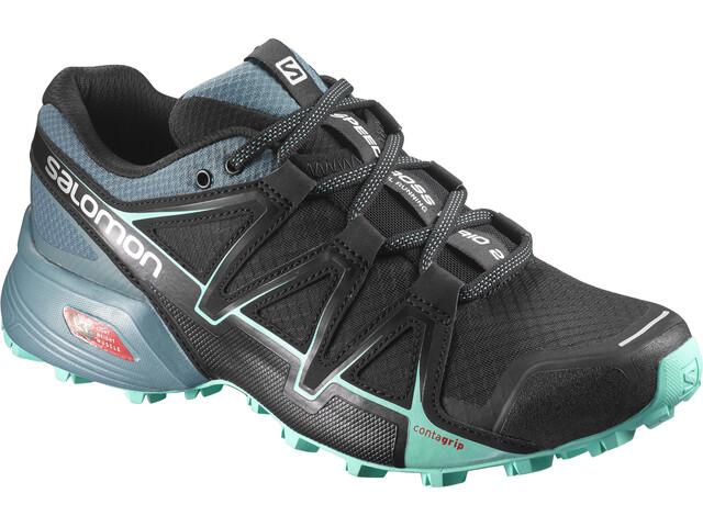 Salomon W's Speedcross Vario 2 Shoes Black/North Atlantic/Biscay Green